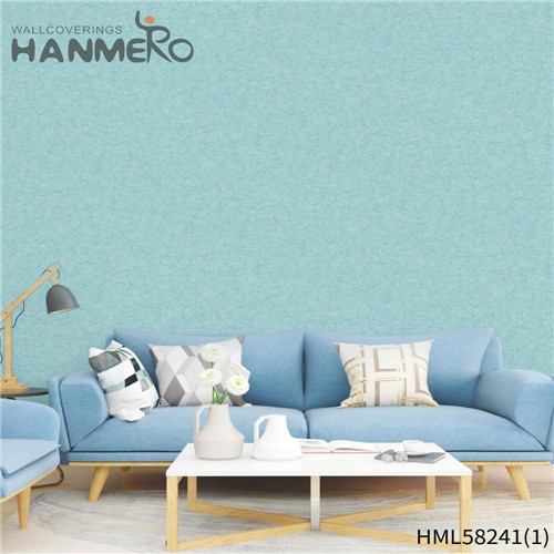 HANMERO PVC Professional Supplier Flowers Flocking Modern Church wallpaper wall coverings 0.53*10M