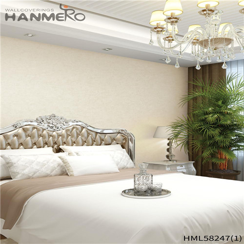 HANMERO PVC 0.53*10M Flowers Flocking Modern Church Professional Supplier contemporary wallpaper for home