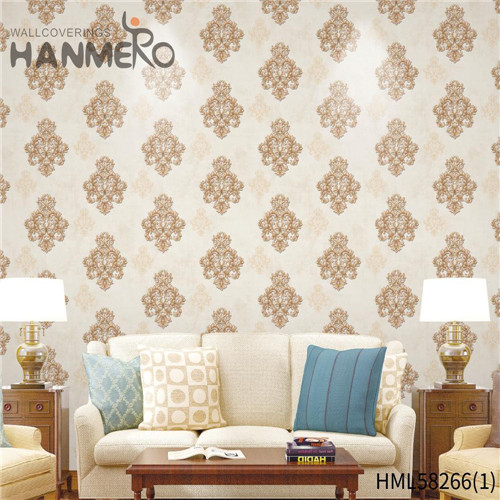 HANMERO Church Professional Supplier Flowers Flocking Modern PVC 0.53*10M shop wallpaper designs