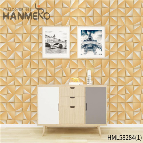 HANMERO PVC Professional Supplier Church Flocking Modern Flowers 0.53*10M wallpaper for room online