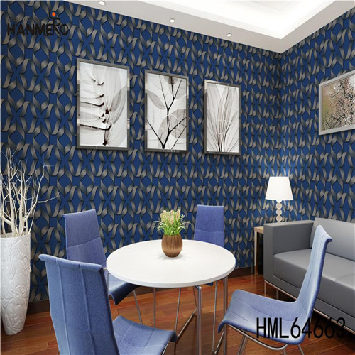 HANMERO SGS.CE Certificate PVC Photo studio 0.53M wallpaper for decorating walls Geometric Technology European