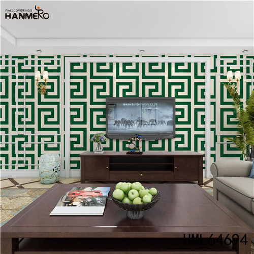 HANMERO bedroom design with wallpaper SGS.CE Certificate Geometric Technology European Photo studio 0.53M PVC