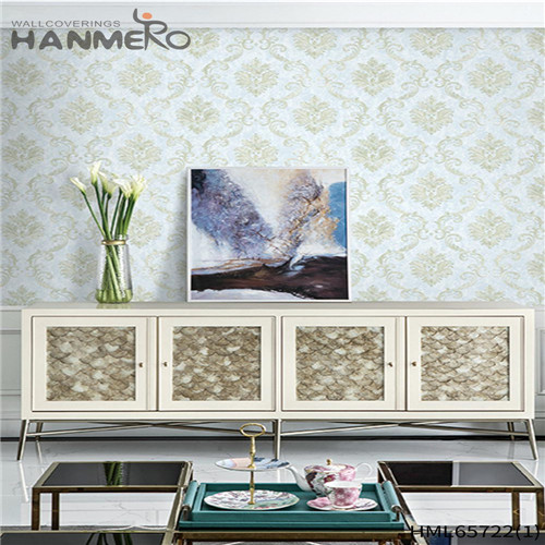 HANMERO Non-woven High Quality Flowers home interior wallpaper European Living Room 0.53M Bronzing
