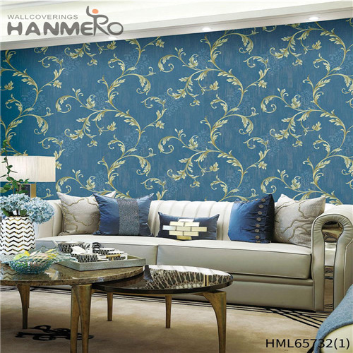 HANMERO Non-woven High Quality Flowers Bronzing European wallcoverings wallpaper 0.53M Living Room