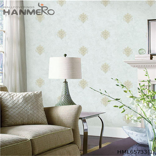 HANMERO Non-woven High Quality Flowers Bronzing European Living Room wallpaper wallcovering 0.53M