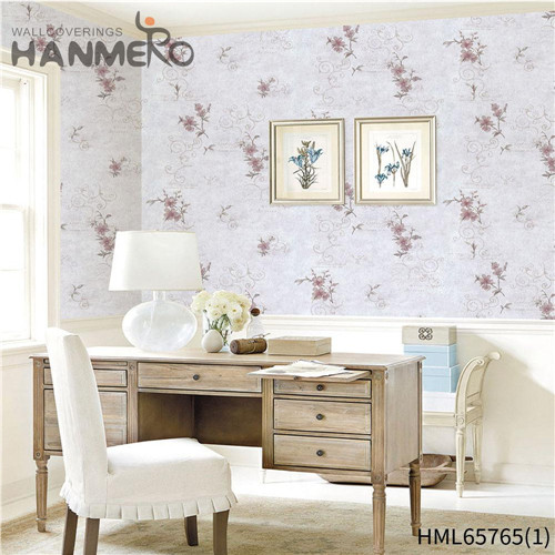 HANMERO Living Room High Quality Flowers Bronzing European Non-woven 0.53M wallpaper direct