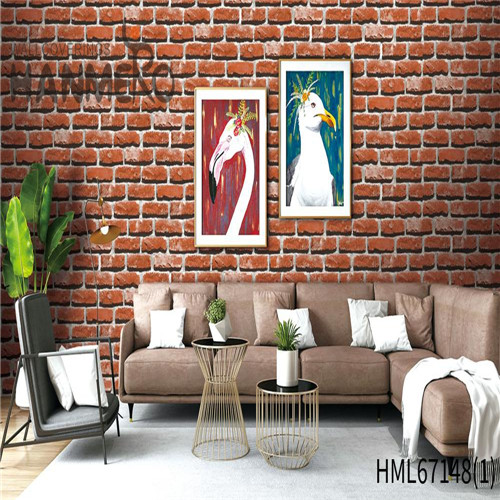 HANMERO PVC Durable Brick Technology Chinese Style Theatres 0.53*10M where to buy wallpaper