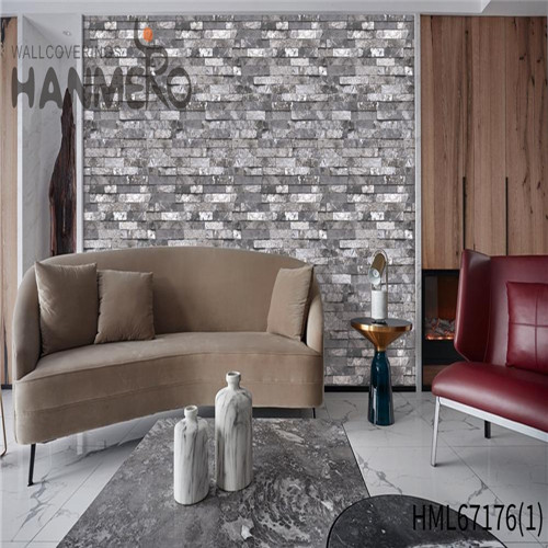 HANMERO 0.53*10M Durable Brick Technology Chinese Style Theatres PVC gray wallpaper patterns