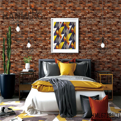 HANMERO PVC 0.53*10M Brick Technology Chinese Style Theatres Durable wallpaper in wall