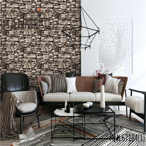 HANMERO PVC Durable 0.53*10M Technology Chinese Style Theatres Brick wallpaper for walls shop