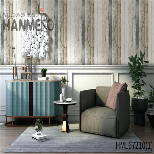 HANMERO PVC Chinese Style Brick Technology Durable Theatres 0.53*10M design with wallpaper