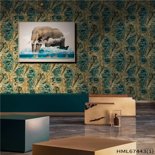 HANMERO PVC wallpaper for your home Geometric Technology Classic Saloon 0.53*10M Strippable