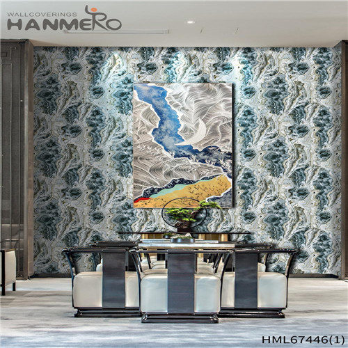 HANMERO PVC Strippable unique wallpaper for home Technology Classic Saloon 0.53*10M Geometric