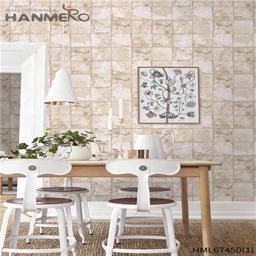 HANMERO PVC Strippable Geometric wallpaper in house Classic Saloon 0.53*10M Technology