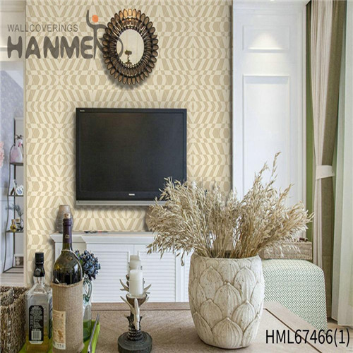 HANMERO PVC Strippable Geometric Technology Classic wallpaper of home 0.53*10M Saloon