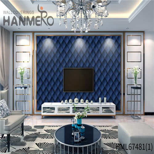 HANMERO PVC Strippable 0.53*10M Technology Classic Saloon Geometric amazing wallpapers for walls