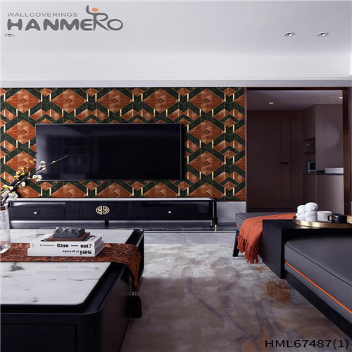 HANMERO PVC Strippable Geometric Technology 0.53*10M Saloon Classic wallcovering wallpaper