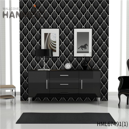 HANMERO PVC Strippable Geometric Technology Classic 0.53*10M Saloon quality wallpaper for home