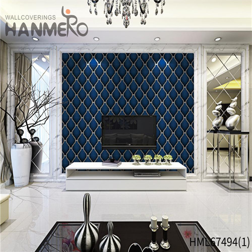 HANMERO Saloon Strippable Geometric Technology Classic PVC 0.53*10M wallpaper for less