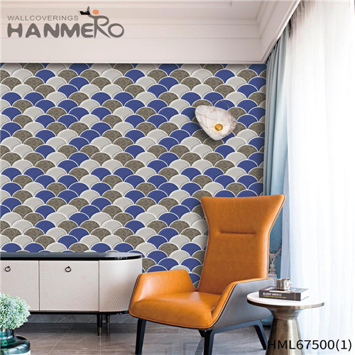 HANMERO PVC Strippable Saloon Technology Classic Geometric 0.53*10M designing wallpaper patterns