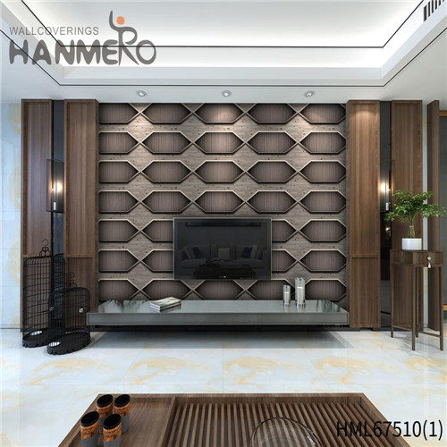 HANMERO Classic Strippable Geometric Technology PVC Saloon 0.53*10M designer wall papers