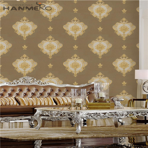 HANMERO PVC Affordable Landscape Deep Embossed Chinese Style wallpaper for home wall 0.53M Household