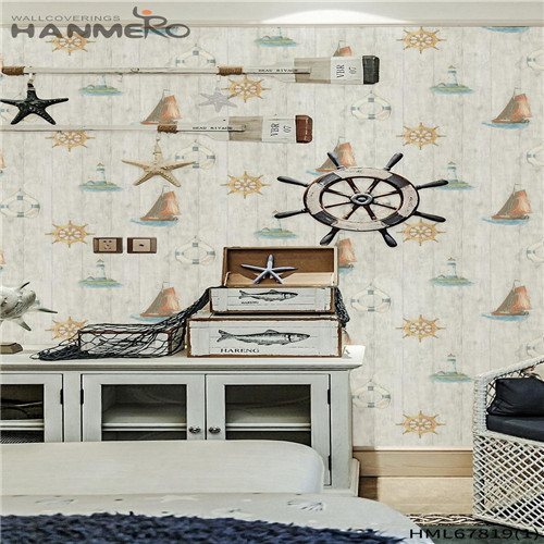 HANMERO PVC Affordable Landscape Deep Embossed Chinese Style Household wallpaper for bedroom 0.53M
