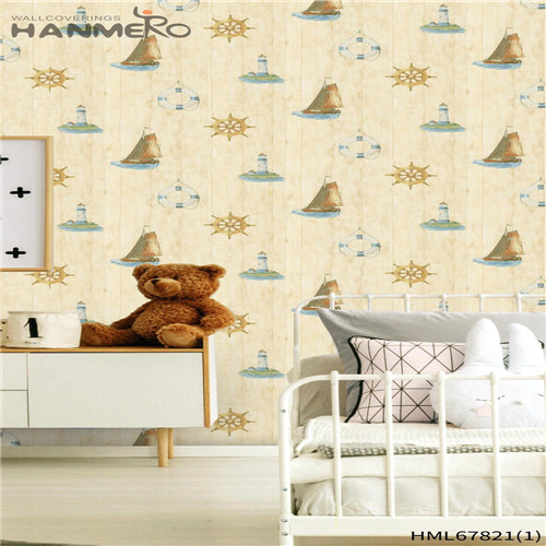 HANMERO 0.53M Affordable Landscape Deep Embossed Chinese Style Household PVC wallpaper design for bedroom