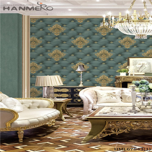 HANMERO PVC Affordable Household Deep Embossed Chinese Style Landscape 0.53M wallpaper for walls for sale