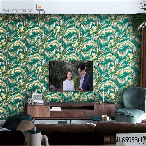 HANMERO Non-woven wallpaper designs for walls Floral Bronzing Pastoral Living Room 0.53M Fancy