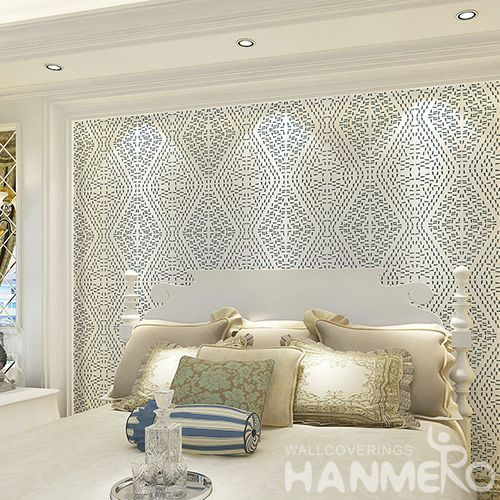 HANMERO Strippable Modern  Geometric Pattern Wallpaper Bronzing Technology  Wholesaler Exporter from China