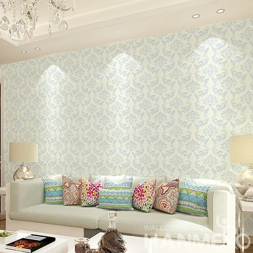 HANMERO New Fashion Classic Damask Wet Embossed Wallpaper for Living Room Wall Manufacturer Designer Photo Quality