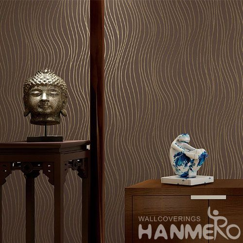 HANMERO High-end Stripes Bronzing Wallpaper for House Home Decoration from China with Superior Quality Best Prices