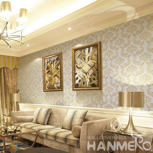 HANMERO Natural Material New Style Wet Embossed Wallpaper for Bedroom House Decorative with Best Prices and CE Certificate
