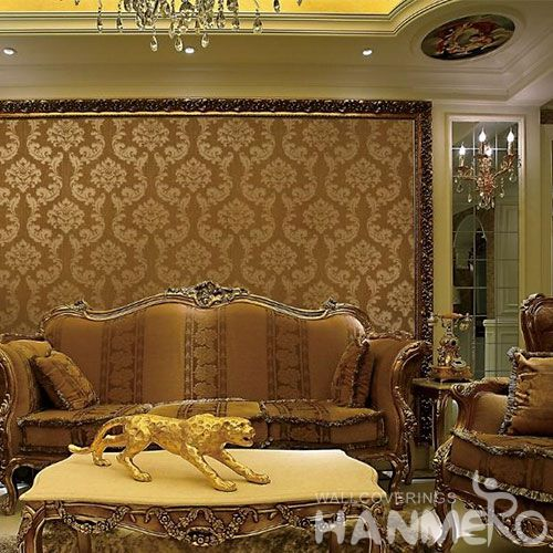 HANMERO Office Study Room Decorative Wallcovering Chinese Factory Hot Sex Nature Sense Classic Damask Wallpaper in Store