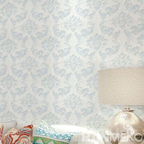 HANMERO Popular Simple Style Interior Room Decorative Wet Embossed Wallpaper Exclusive Technology Wallcovering Factory