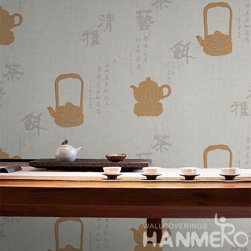 HANMERO Professional Home Wallcovering Chinese Style Wet Embossed Wallpaper for Interior Household Wall Decoration