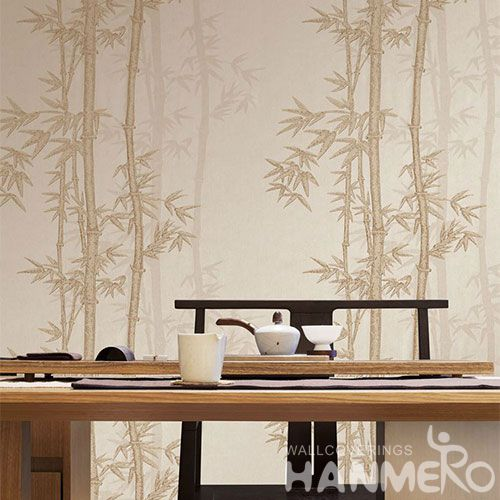 HANMERO New Published Luxury Modern Bamboo Design Wet Embossed Wallpaper Sample Online Hot Selling Wallcovering