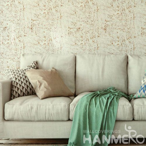 HANMERO Cork Luxury Wallpaper for TV Sofa Background Walls Modern Simple Style Chinese Wallcovering Supplier
