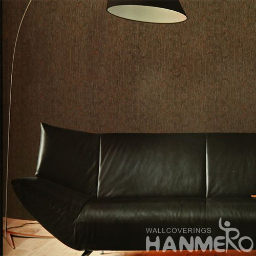 HANMERO Sofa TV Background Decor Cork Wallpaper Modern Style Wallcovering Vendors Dark Brown Color Chinese Factory