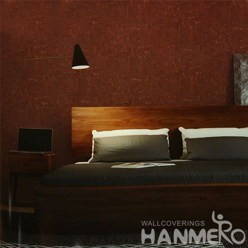 HANMERO Modern Simple Design Red Cork Wallpaper Online Discount Chinese Wallcovering Manufacturer Luxury Home Decor