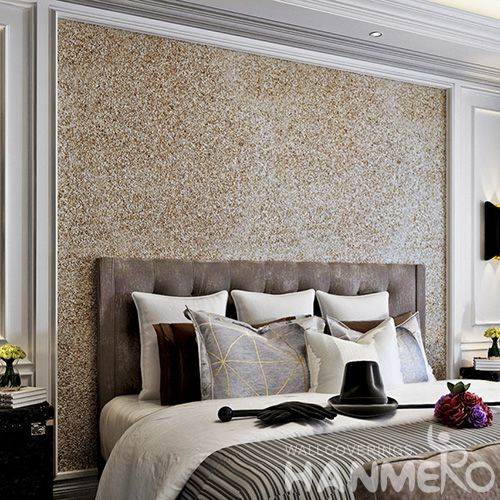 HANMERO Hot Selling room decor 0.53 * 10M / Roll Plant Fiber Particle Walllpaper in Modern style from Chinese manufacture