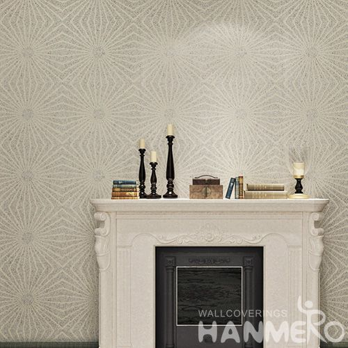 HANMERO Modern Style High Quality and Eco-friendly Plant Fiber Particle wallpaper with Bronzing Technology from China Manufacture