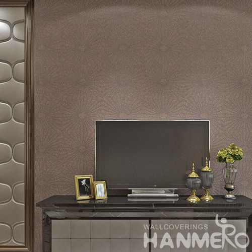 HANMERO Hot Selling Room Decor 0.53 * 10M / Roll Plant Fiber Particle walllpaper in Modern Style from Chinese Manufacturer