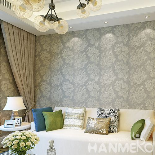 HANMERO Modern Style Waterproof Plant Fiber Particle Wallpaper Factory Supplier with SGS.ISO.CE.REAH Certificate