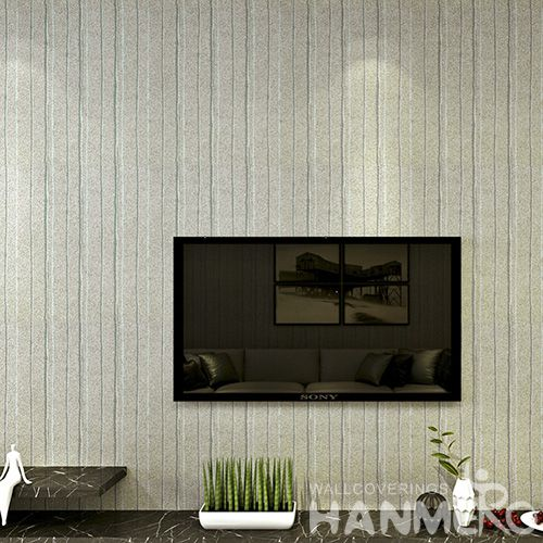 HANMERO 0.53 * 10M / Roll Luxury Design Plant Fiber Particle Wallpaper for home interior decor from Chinese Vendor