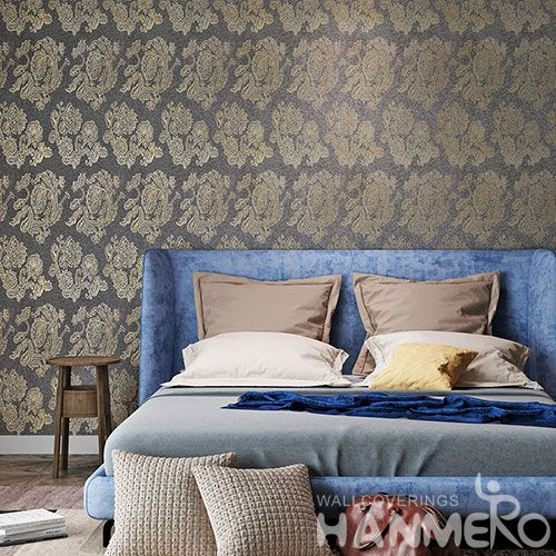 HANMERO Modern New Design Plant Fiber Particle Wallpaper 0.53 * 10 m / Roll for Living Room Decoration from Chinese Supplier