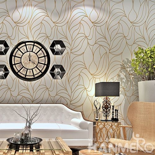 HANMERO Interior Room Decor Gilding Wallcovering 0.53 * 10M Home Furnishing Wallpaper Chinese Manufacture Best Prices
