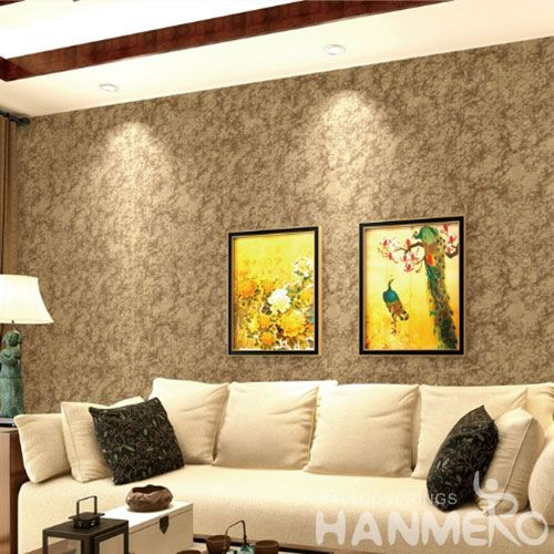 HANMERO Latest Removable Chinese Supplier 0.53 * 10M Gilding Wallcovering Hall Decoration Wallpaper Simple Designs