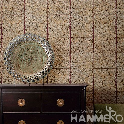 HANMERO Home Interior Durable Plant Fiber Wallpaper Vendor from China